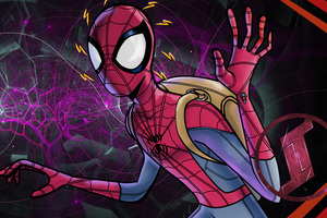 5k Spiderman Digital Art