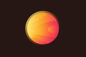 5k Sun Planet Minimalist