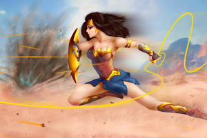5k Wonder Woman Art