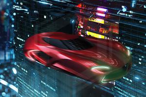 8C Hover Car 4k Wallpaper