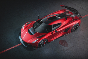 8k Koenigsegg Jesko Cherry Red Edition 10