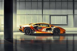 8k Lamborghini Aventador S 2019 Wallpaper