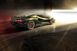8k Lamborghini Sian Wallpaper