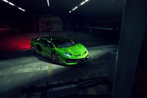 8k Novitec Lamborghini Aventador SVJ 2019 Front Wallpaper