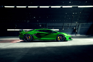 8k Novitec Lamborghini Aventador SVJ 2019 Side View Wallpaper