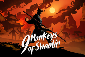 9 Monkeys Of Shaolin Wallpaper