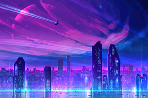 A Neon City Wallpaper