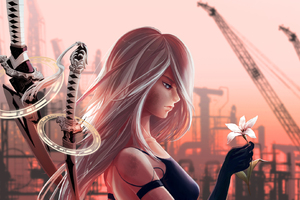 A2 Nier Automata Artwork