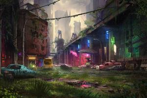 Abandon City Digital Art 4k Wallpaper