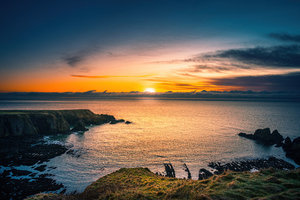 Aberdeen Coast Sunrise Scotland 5k Wallpaper