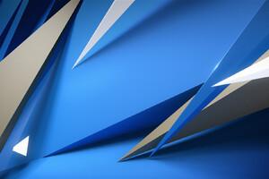 Abstract 3d Sharp Shapes Wallpaper