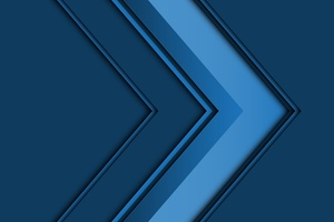 Abstract Arrow 3d Blue 5k Wallpaper