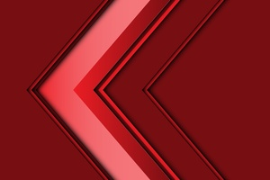Abstract Arrow 3d Red 5k