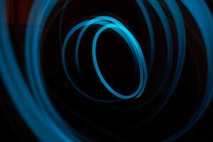 Abstract Art Blue Dark Lights Lines 5k Wallpaper