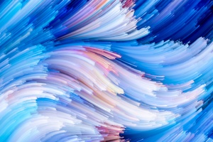 Abstract Artistic Blue