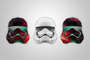 Abstract Artistic Helmet Stormtrooper Wallpaper
