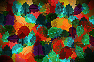 Abstract Autumn Leaves 4k