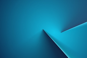 Abstract Blue Line 4k