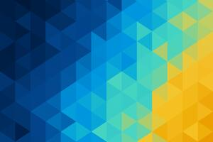 Abstract Blue Yellow