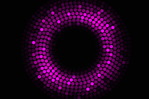 Abstract Circles Violet 4k Wallpaper