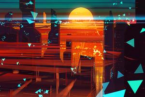 Abstract City 4k Wallpaper