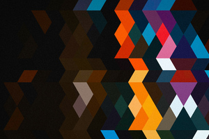 Abstract Color Shields 5k Wallpaper