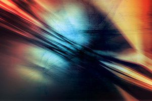 Abstract Color Vignette