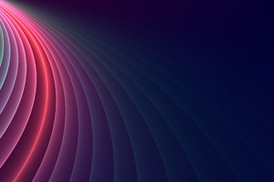 Abstract Colorful Curved Glowing 4k