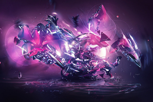 Abstract Colorful Destruction Splash 4k