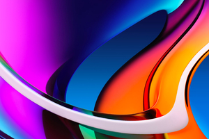Abstract Colorful Glass Bend Shapes 4k Wallpaper