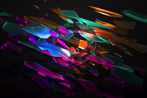 Abstract Colorful Shape 4k Wallpaper