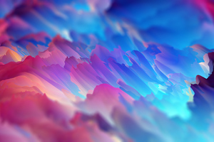 Abstract Colorful Space Colors Art 4k