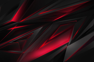 Abstract Dark Red 3d Digital Art