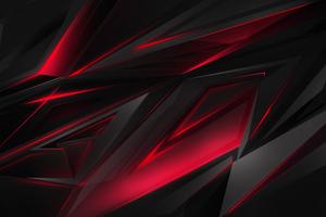 Abstract Dark Red 3d Digital Art