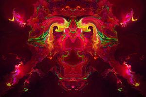 Abstract Destuction Digital Art 4k