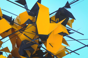 Abstract Geometry 3d Shapes 5k Wallpaper