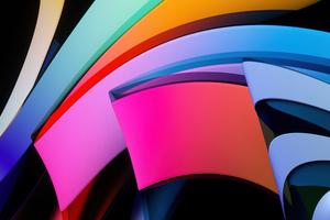 Abstract Glass 5k Wallpaper