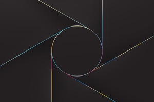 Abstract Lines Circle Wallpaper