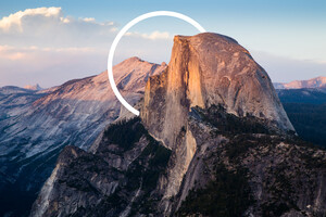 Abstract Mountains Circle