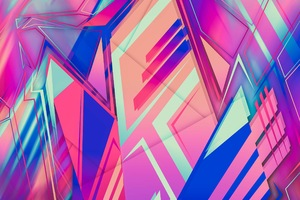 Abstract New Colors Shapes