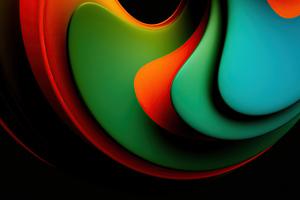 Abstract New Shapes 4k Wallpaper