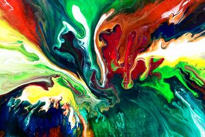 Abstract Paint Swirl