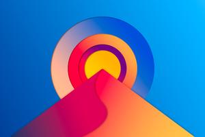 Abstract Sun Digital 8k Wallpaper