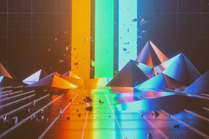 Abstract Triangle Artwork