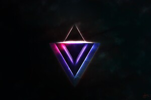 Abstract Triangle Texture Wallpaper