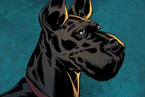 Ace Hound In Damian Son Of Batman Wallpaper