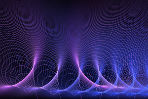 Acoustic Waves Abstract Purple Artistic Wallpaper
