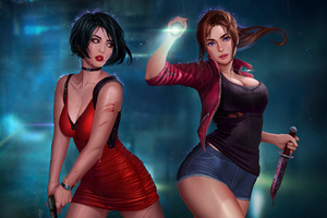 Ada Wong Claire Redfield Wallpaper