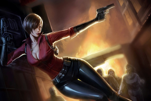 Ada Wong Resident Evil 2 4k Art Wallpaper