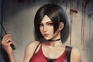 Ada Wong Resident Evil 2 Art